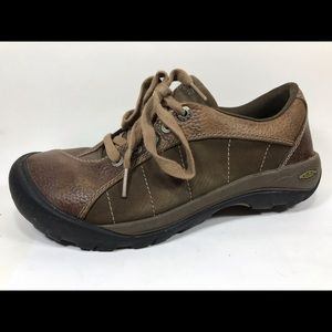 Keen Leather Work Hiking Shoes 8